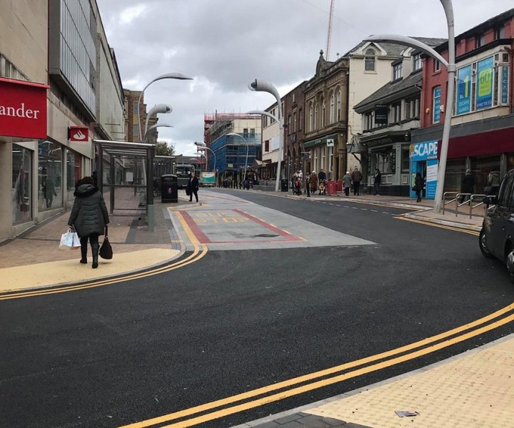 Blackpool Borough Council Bus Bays and Tac-Grid MMA Resin tactiles October 2019