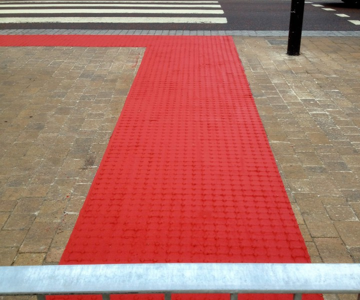 Blackpool Council commissioned the tactiles to be laid in a shared space on the promenade.